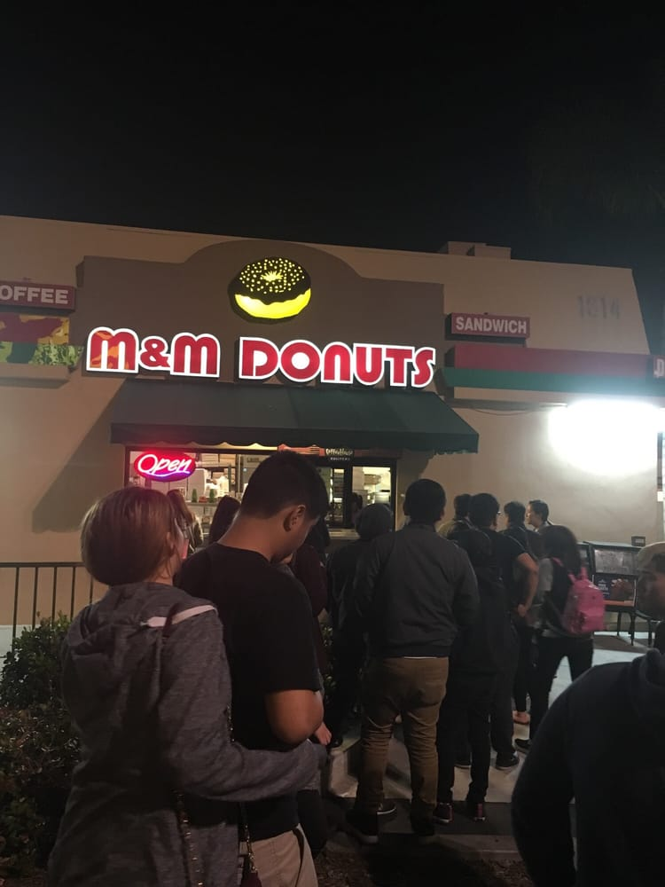 m and m donuts outside